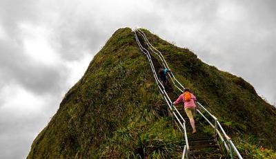 """Quem tem coragem de subir a icónica """"escadaria para o céu""""?"""
