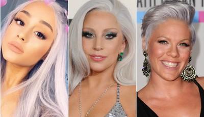 """Tendências: Os famosos que aderiram ao """"Granny Hair"""""""