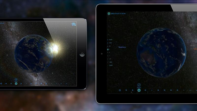 Viaje pelo sistema solar com uma experiência 3D e de realidade aumentada na palma da mão