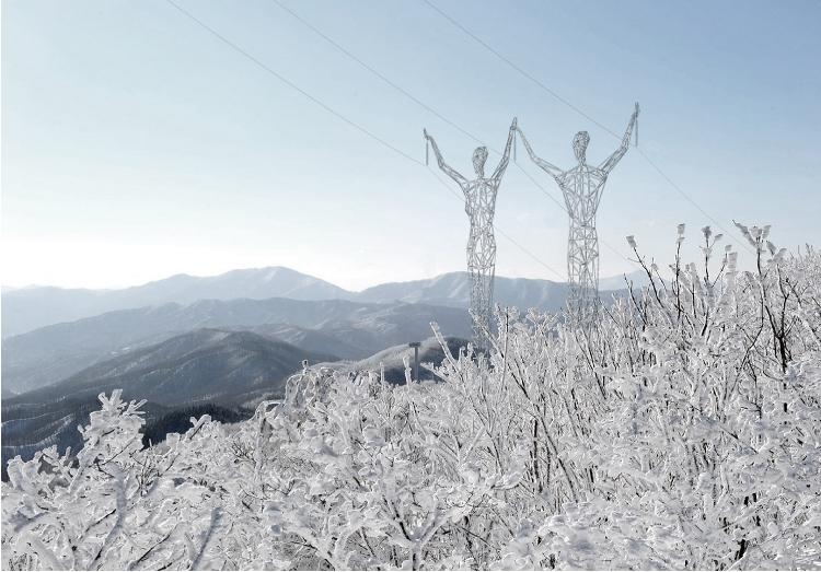 Arquitetos querem transformar postes de eletricidade em esculturas humanas gigantes