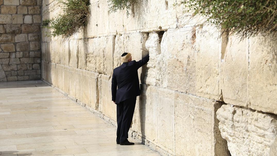 Trump, o primeiro Presidente dos EUA a visitar o Muro das Lamentações