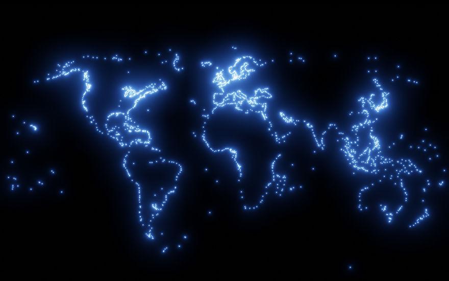 Estes 5 mapas mostram como todo o mundo está ligado