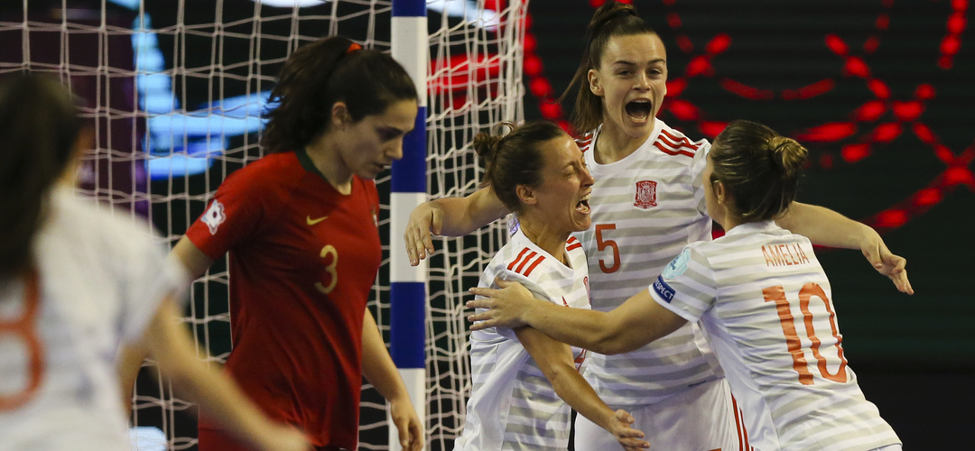 Espanha goleia Portugal e é a primeira campeã da Europa de Futsal feminino