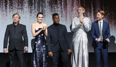 """A Força esteve em Los Angeles para a antestreia do novo """"Star Wars"""""""