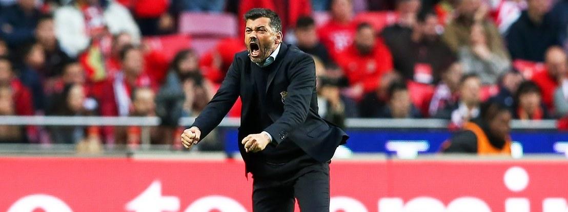 Conceição nos clássicos com Benfica: Luz é oportunidade para desempatar... ou então empatar
