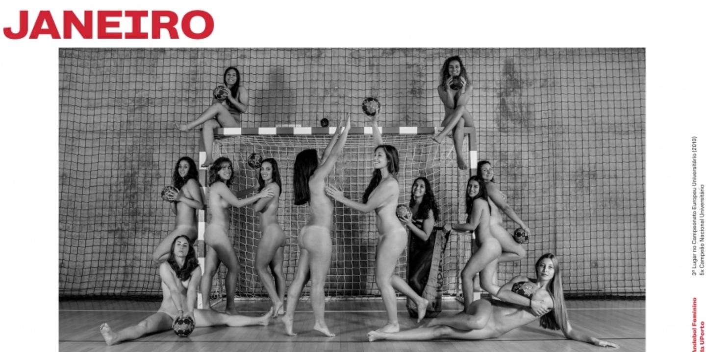 """Atletas da UMinho despem-se para calendário sem roupa mas com """"muita solidariedade"""""""