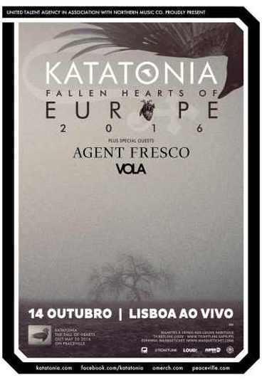 Katatonia + Agente Fresco + Vola