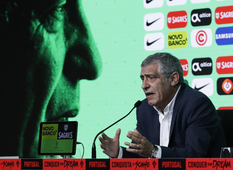 Fernando Santos estabelece metas para o Mundial2018: Portugal é candidato e 'oitavos' são os mínimos