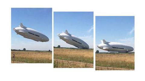 A lenta e suave queda da maior aeronave do mundo