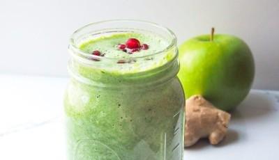 Smoothie detox de maçã e gengibre, uma receita vegan e sem glúten