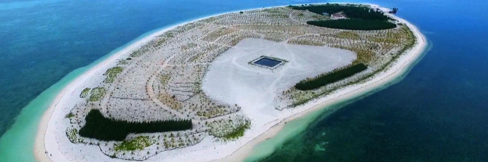 As ilhas inabitadas que a China transformou em paraísos naturais