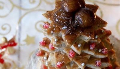 Árvore de Natal de panquecas