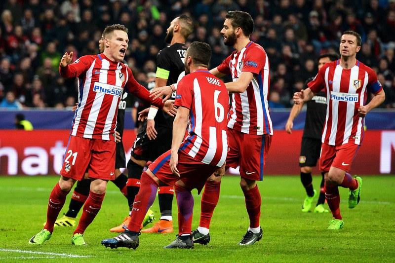 Atlético impõe-se em Leverkusen e traz vantagem confortável na bagagem
