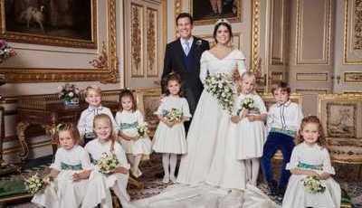 Eis os retratos oficiais do casamento da princesa Eugenie