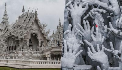 Templo Branco da Tailândia é, ao mesmo tempo, deslumbrante e assustador