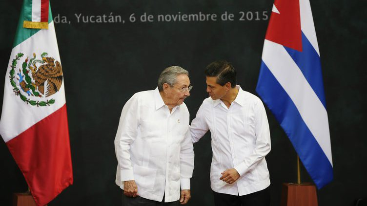 Raúl Castro no México