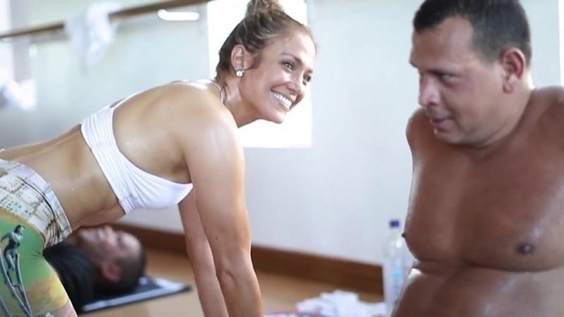Jennifer Lopez e Alex Rodriguez partilham o treino que fazem em família