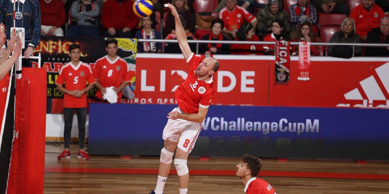 Voleibol: Benfica em vantagem na primeira mão dos 16 avos da Taça Challenge