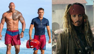 """""""Baywatch"""" fracassa nas bilheteiras e """"Piratas das Caraíbas"""" já não é o que era"""
