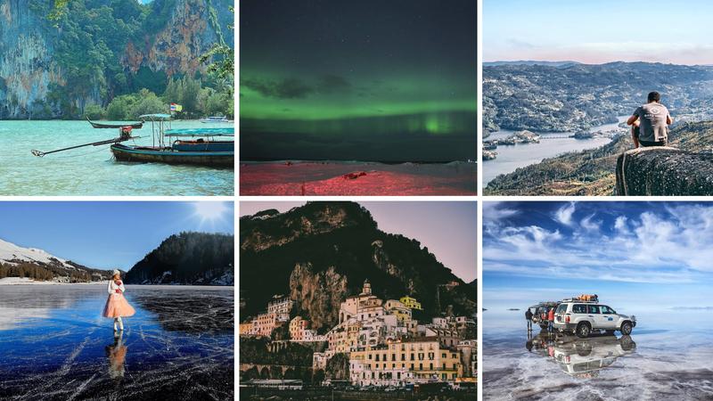 Viagens de Instagram: paisagens que parecem de outro mundo