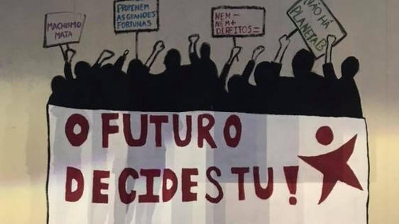 """""""Vandalização"""": Presidente do Instituto Superior Técnico critica mural do Bloco de Esquerda"""