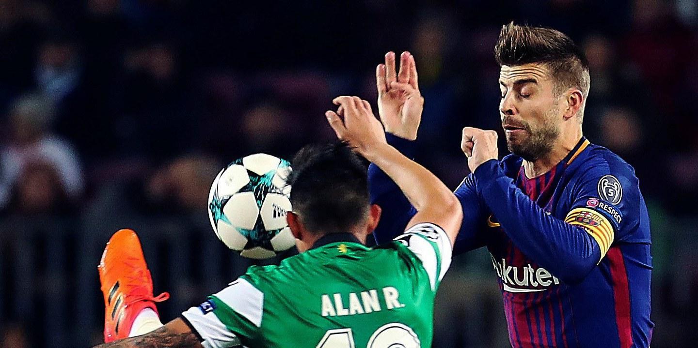 Sporting e Barcelona em 'branco' ao intervalo