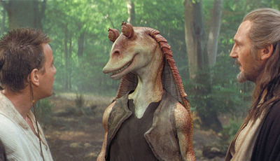 "George Lucas insiste: a sua personagem preferida de ""Star Wars"" é Jar Jar Binks"