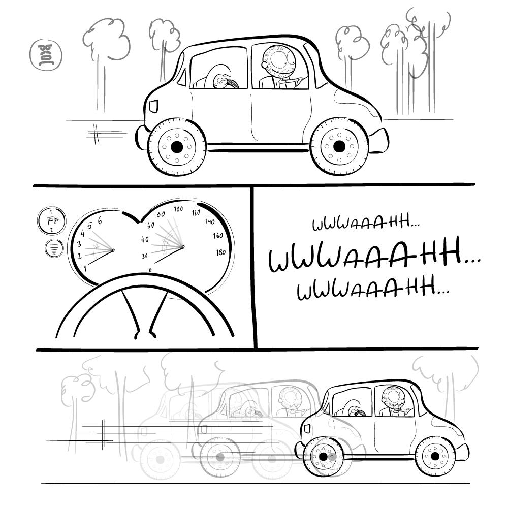 não se pode parar o carro