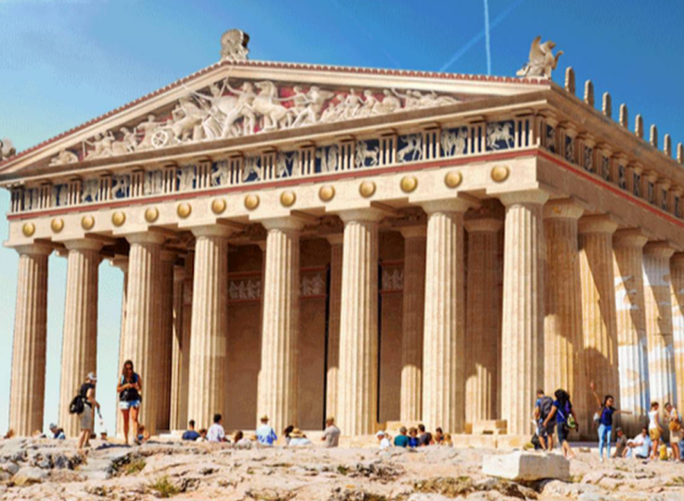 Do Partenon à Muralha de Adriano: veja como eram estes monumentos quando foram construídos