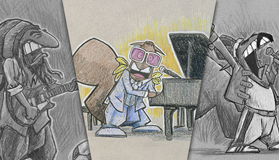 De Elton John a Freddie Mercury: e se estes artistas fossem... esquilos?