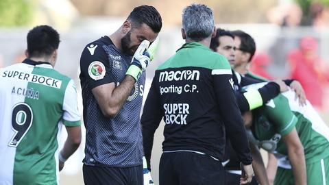 Taça de Portugal: As lágrimas de Rui Patrício entre a euforia dos jogadores do Desportivo das Aves