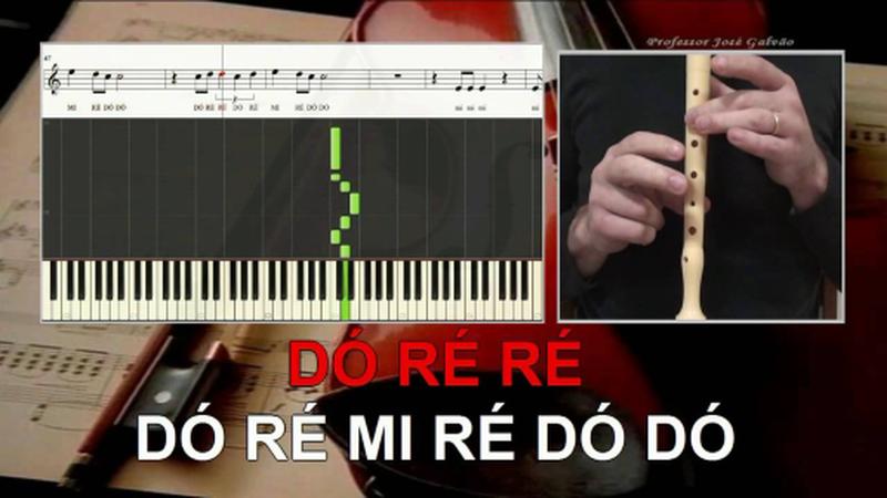 Tutoriais para flauta, guitarra, piano, cavaquinho