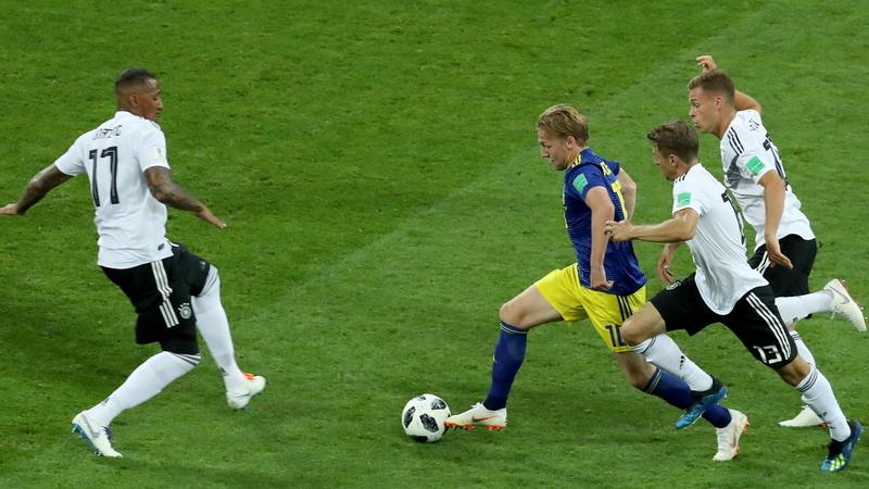 Alemanha está fora do Mundial ao intervalo. Suécia vence com golo de Toivonen