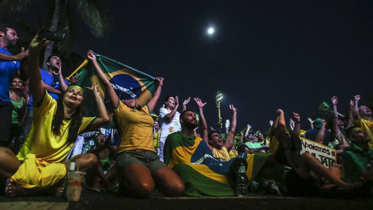 Brazilians in favor and against president Dilma Rousseff take the streets to demonstrate