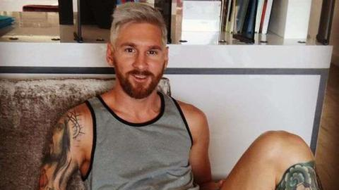 Messi tem novo look