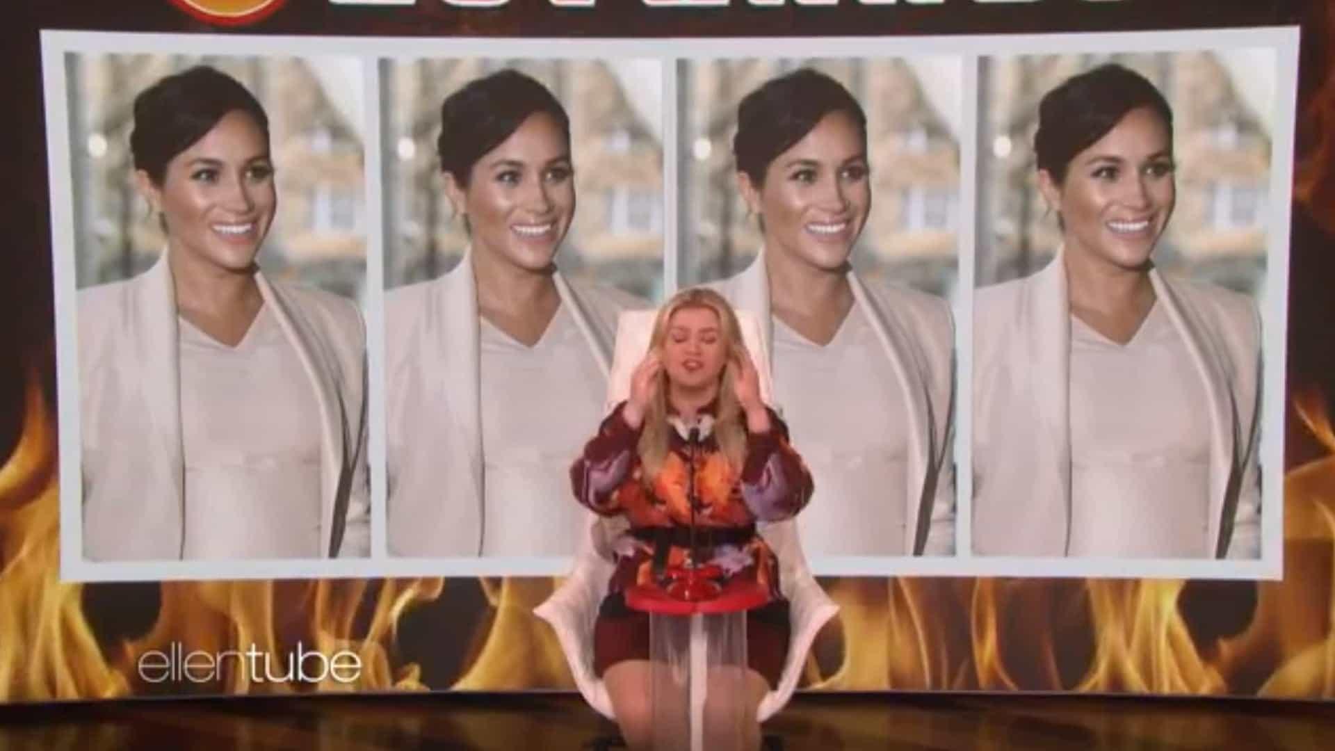 Ups! Kelly Clarkson esqueceu-se do nome de Meghan Markle