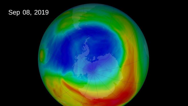 O buraco na camada de ozono está mais pequeno que nunca