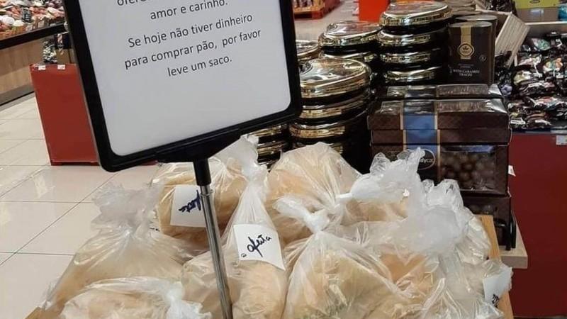 Supermercado de Sacavém disponibiliza pão gratuito aos mais carenciados