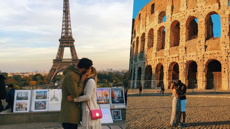 Instagramer beija desconhecidos em frente a atrações turísticas para conseguir fotos românticas
