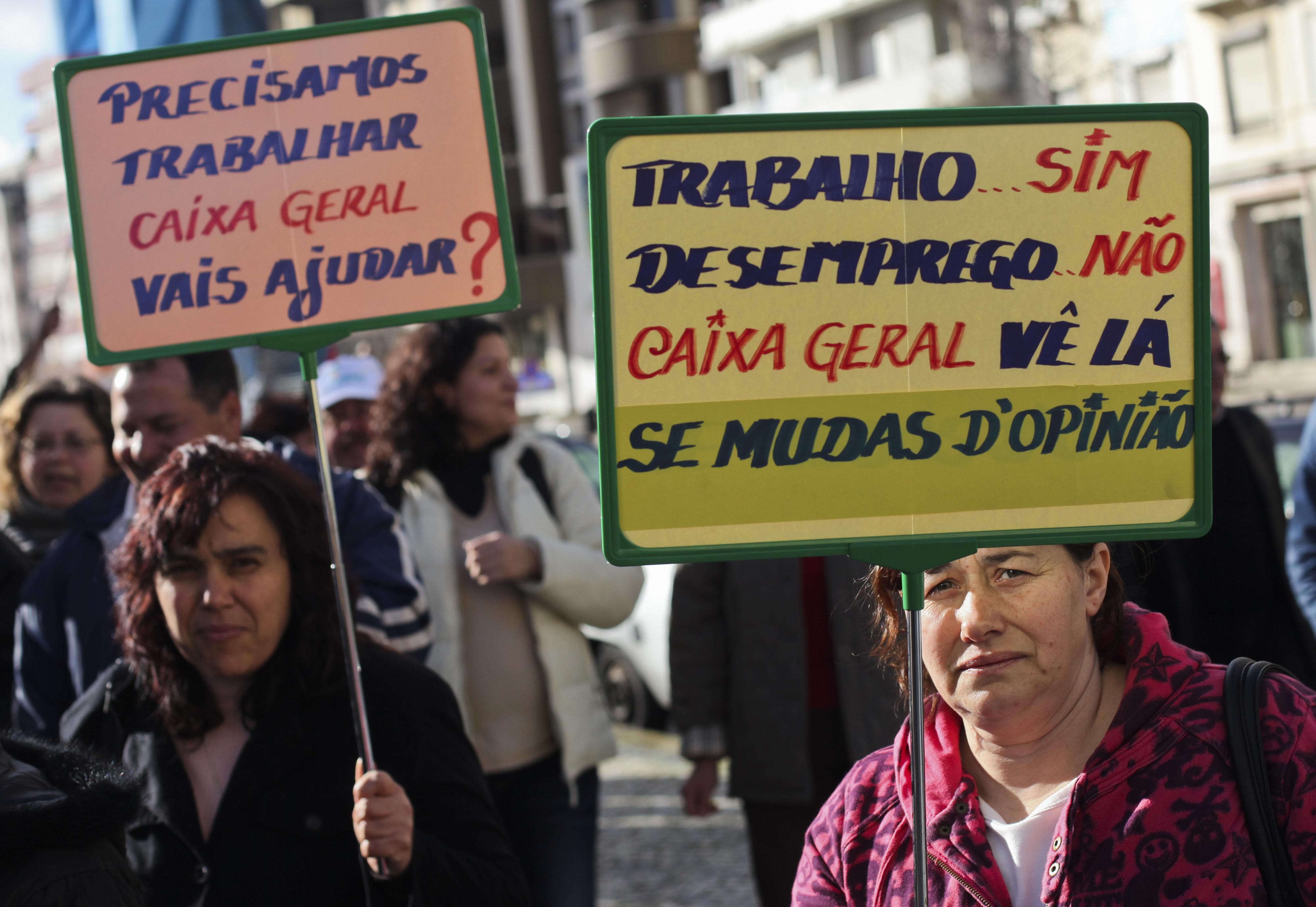 Trabalhadores do ex-grupo Alicoop protestam na terça-feira em Lisboa