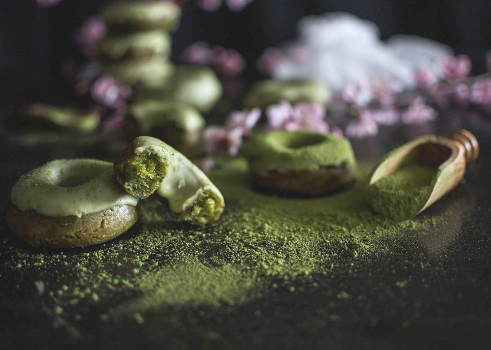 Donuts de chá de Matcha