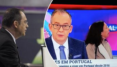 """Momento insólito na TVI: mulher """"perdida"""" no estúdio do """"Jornal das 8"""""""