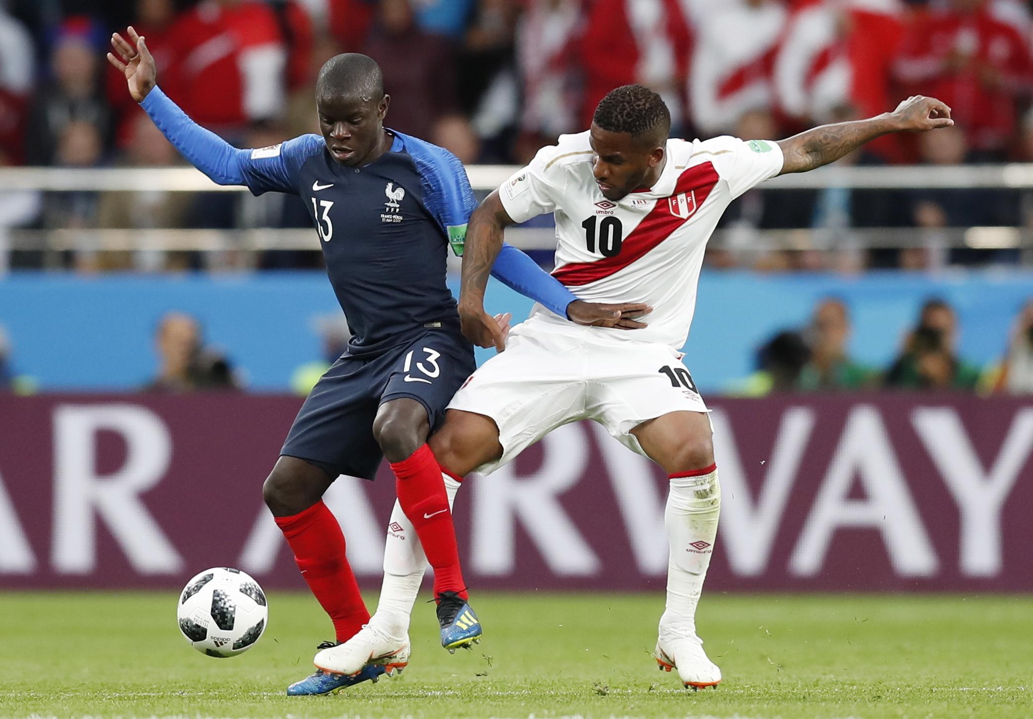 Os números do França-Peru: Mbappé marcou mas foi Kanté o MVP
