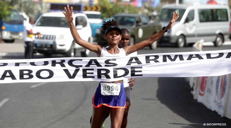 Atletismo/Cabo Verde: Wilson Cabral e Edéna Lima foram os vencedores da Corrida das Forças Armadas