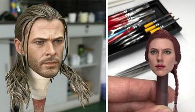 Atores e atrizes andam de cabeça perdida com as esculturas realistas de um coreano