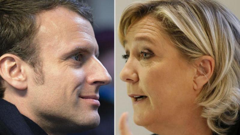 Marine Le Pen ganharia hoje a primeira volta das eleições presidenciais francesas