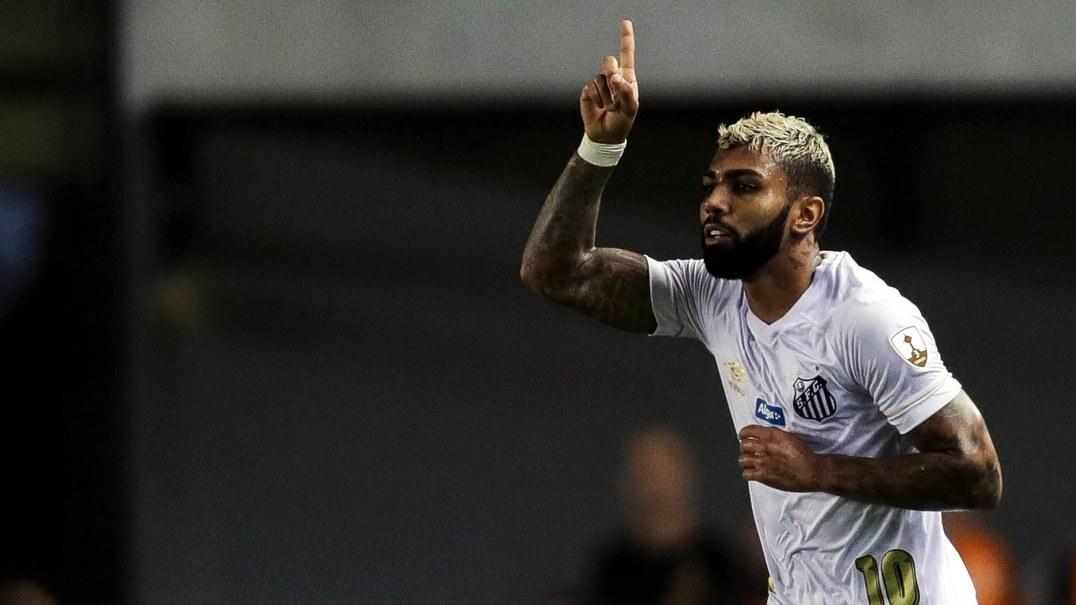 Gabriel Barbosa marca mais um golaço pelo Santos