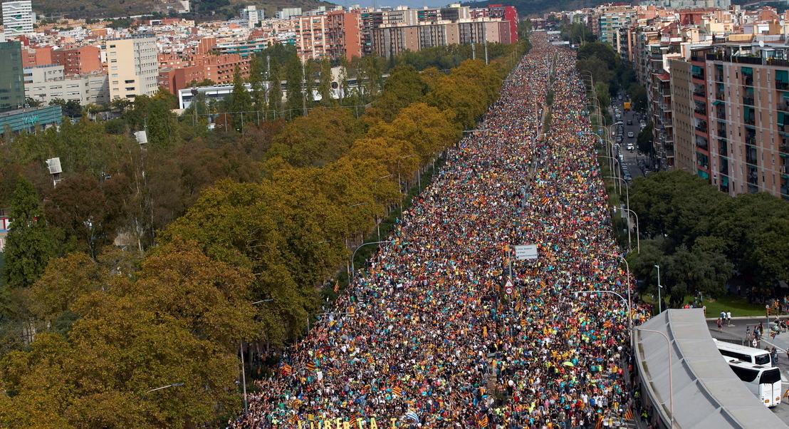 Catalunha: Três detidos e um ferido grave após carga policial