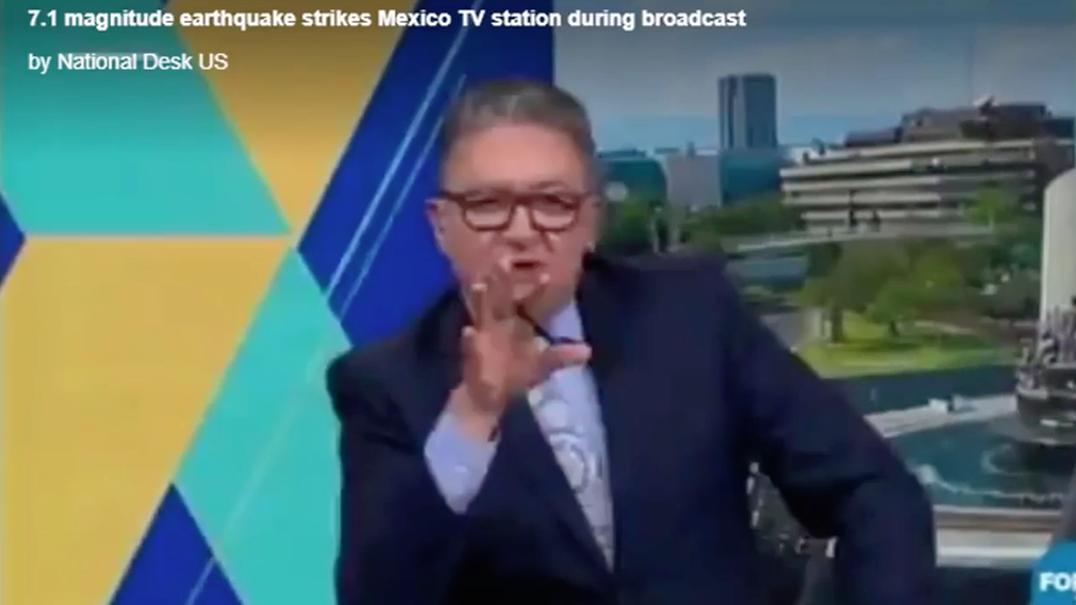 Veja como um apresentador de televisão reagiu ao sismo no México