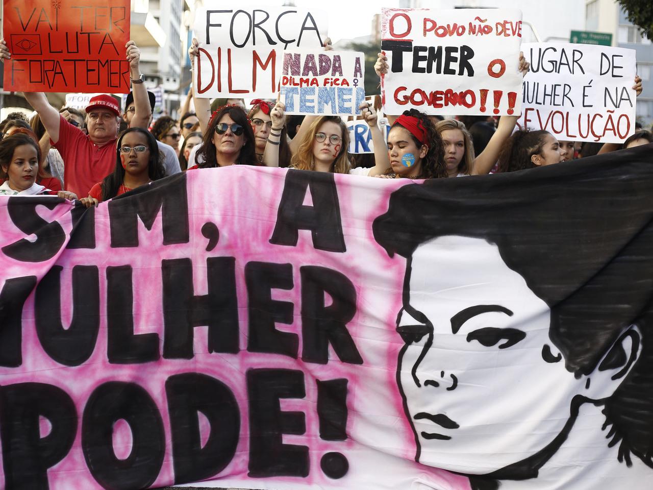 Protestos contra Temer no Brasil